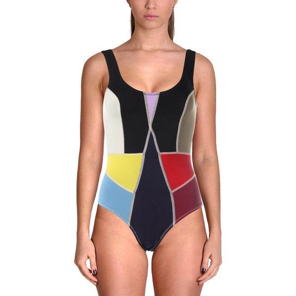 05af060fb8b5 Shop Cynthia Rowley Womens Prism Scuba Colorblock One-Piece Swimsuit - Free  Shipping On Orders Over $45 - Overstock - 27588940