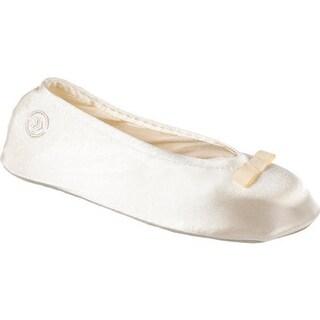 Isotoner Women's Satin Ballerina Cream