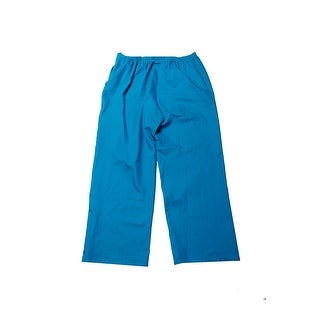 Alfred Dunner Turquoise Pull-On Straight-Leg Pants 16