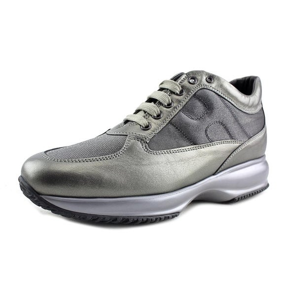 Shop Hogan Interactive Scarpa Allacciata Leather Fashion Sneakers ... b19292ae218