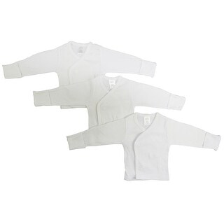 Bambini Long Sleeve Side Snap With Mittens - 3 Pack - Size - Small - Unisex