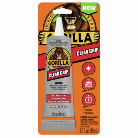 Gorilla 8040002 Clear Grip Contact Adhesive, Clear, 3 Oz