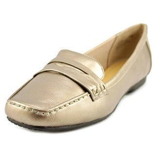 Easy Spirit Yana W Square Toe Leather Loafer