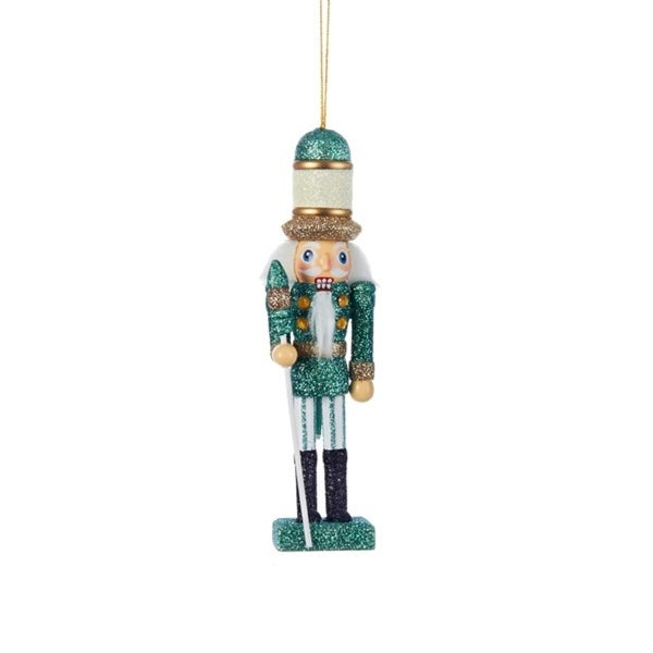 "6"" Hollywood Green and Gold Glitz Nutcracker Christmas Ornament"