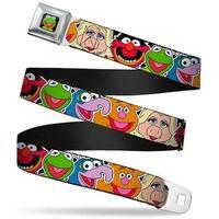 Kermit Face Full Color Black Muppets Faces Close Up Black Webbing Seatbelt Seatbelt Belt