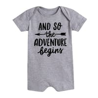 And So The Adventure Begins  - Infant Romper