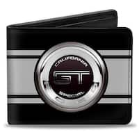 Ford Gt California Special Emblem Stripe Black Gray Silvers Bi Fold Wallet - One Size Fits most