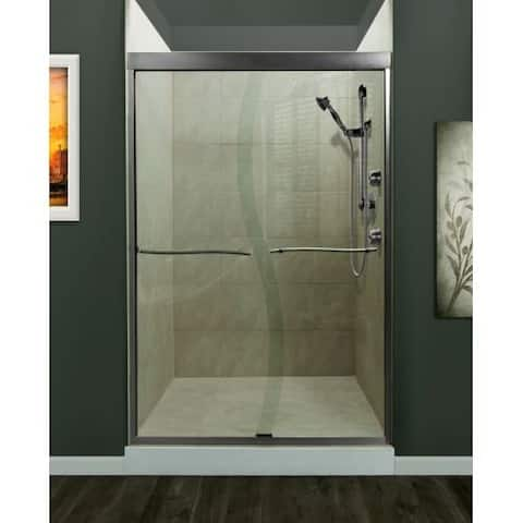 """Miseno MSDS4672 Suave 72"""" High x 46"""" Wide Frameless Shower Door with Clear Glass and H2OFF Technology -"""