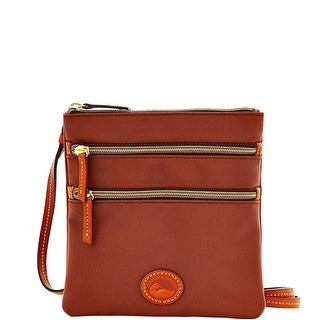 Dooney & Bourke Nylon North South Triple Zip (Introduced by Dooney & Bourke at $89 in Jul 2014) - Brown