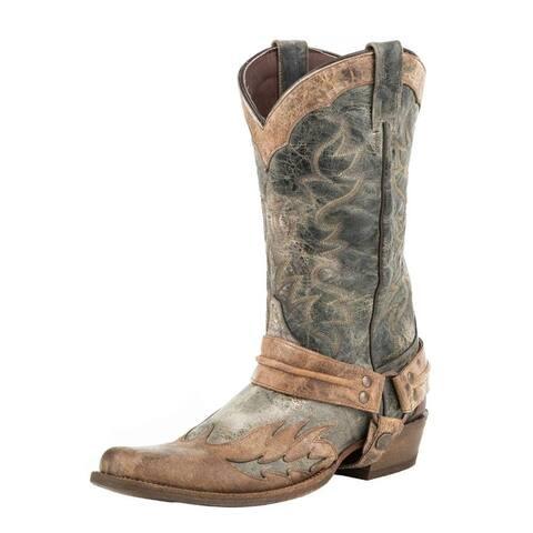 Stetson Western Boots Mens Sundance Kid Black