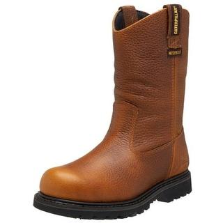 Caterpillar Mens Leather Waterproof Work Boots - 7 wide (e)