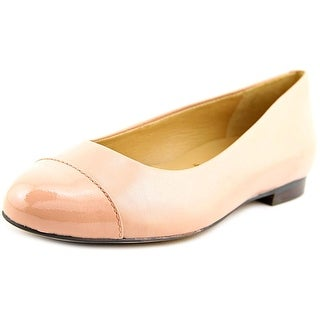 Trotters Chic Women Round Toe Leather Pink Flats