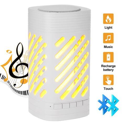AGPtek Outdoor Speaker w/ Flame Effect Lamp MP3 Smart Music Player - S