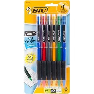 BIC Xtra Comfort Mechanical Pencils 6/Pkg-Assorted Barrels - assorted barrels