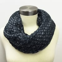 Black & Grey Crochet Infinity Scarf Design Knit Infinity Scarf Circle winter fall Christmas gift women snow white Grey