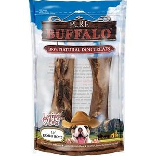 "Pure Buffalo 7""-9"" Meaty Femur Bone Dot Treat 2/Pkg-"