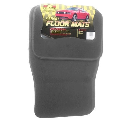 Simoniz Automobile Floor Mats Set of 4 in Gray