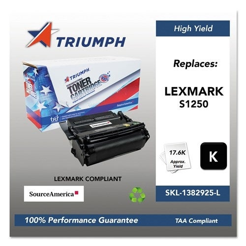 Triumph Remanufactured 1382625 Toner Cartridge - Black Toner Catridge