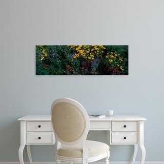 Easy Art Prints Panoramic Images's 'Flowers' Premium Canvas Art