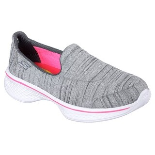Skechers 81122L GRY Girl's SKECHERS GOWALK 4