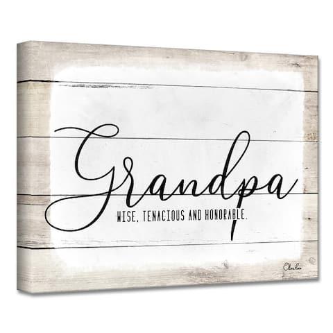 Olivia Rose 'Grandpa' Canvas Textual Wall Art