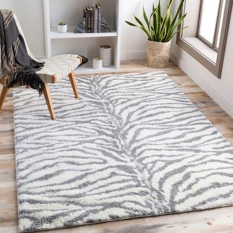 Salvado Plush Zebra Stripe Area Rug