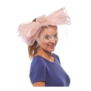 The Bellota Sinamay Fascinator Cocktail Hat with Pearls