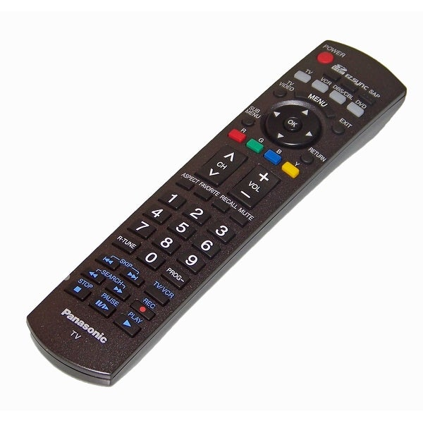 OEM Panasonic Remote Control Originally Shipped With: TH50PZ77U, TH-50PZ77U, TH58PZ700U, TH-58PZ700U
