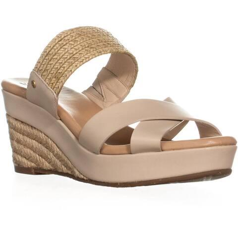 UGG Adriana Wedge Mule Sandals, Horchata - 9 US / 40 EU