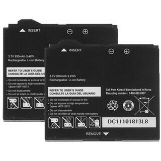 Battery for Pantech PBR-C530 (2-Pack) Replacement Battery