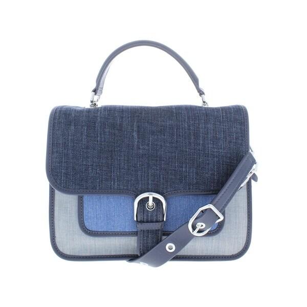 ac4246538666 Shop Michael Kors Womens Cooper Satchel Handbag Denim Convertible ...