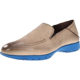 Hush Puppies Mens Five-Base Leather Apron Toe Loafers