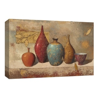"""PTM Images 9-153662  PTM Canvas Collection 8"""" x 10"""" - """"Leaves and Vessels"""" Giclee Leaves Art Print on Canvas"""