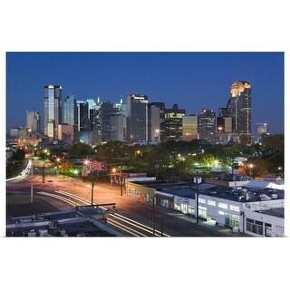 """Dallas, Texas, skyline at dawn"" Poster Print"