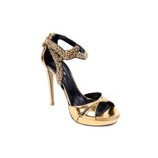 Roberto Cavalli Womens Embellished Strap Stiletto Sandal
