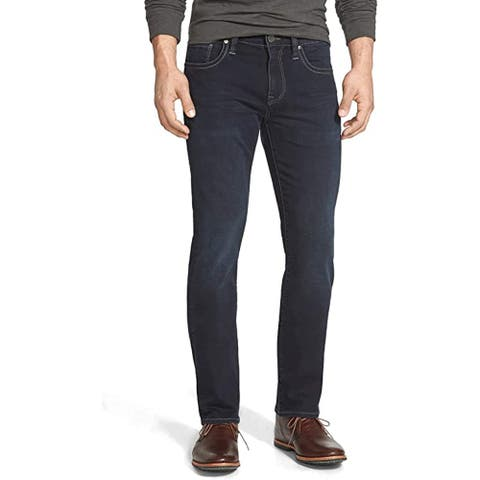 34 Heritage Men's Courage Mid-Rise Straight Leg Jeans, Midnight Austin, 40 x 32