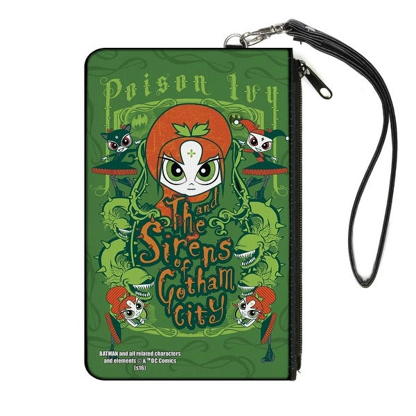 Chibi Poison Ivy And The Sirens Of Gotham City Ivy Greens Canvas Zipper Canvas Zipper Wallet