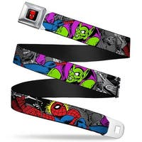 Marvel Comics Spider Man Full Color Spider Man & Green Goblin In Action Seatbelt Belt