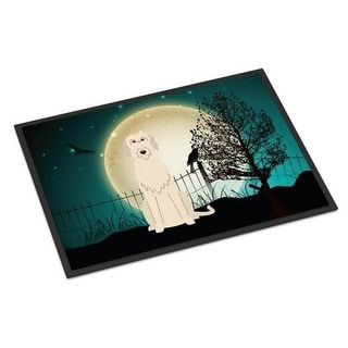 Carolines Treasures BB2255JMAT Halloween Scary Irish Wolfhound Indoor or Outdoor Mat 24 x 0.25 x 36 in.
