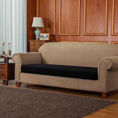 Subrtex Stretch Loveseat Cushion Cover Textured Grid Furniture Covers