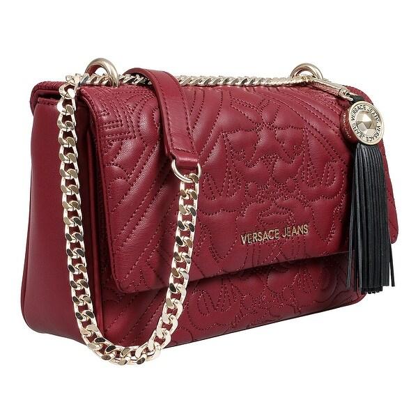 Shop Versace EE1VSBBZ6 E311 Aubergine Shoulder Bag - 10.25-6.25-3 ... 50f34045cef49