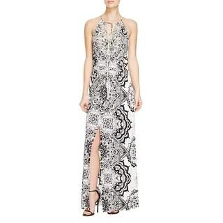 Parker Womens Madera Maxi Dress Beaded Printed - m