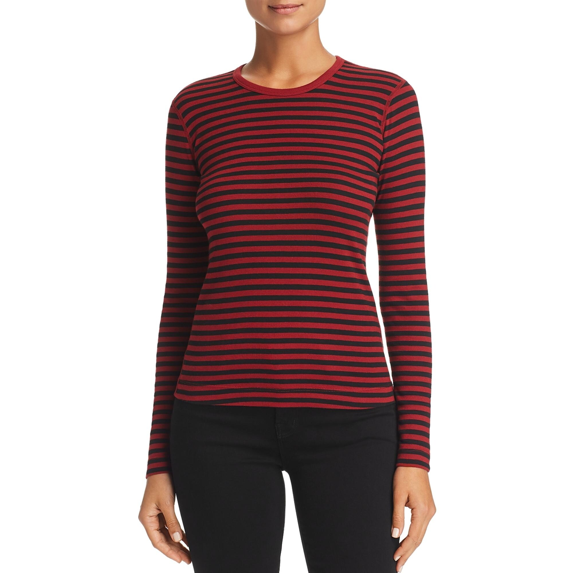 Three Dots Womens Mykonos Striped Crew Neck 3//4 Sleeves T-Shirt Top BHFO 9671