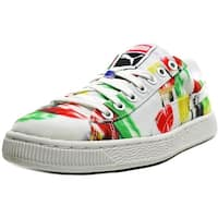 Puma Basket Classic CVS Blur Women  Round Toe Canvas Multi Color Sneakers