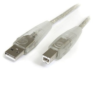Startech Cable Usb2hab15t 15 Ft Transparent Usb2 Cable - A To B