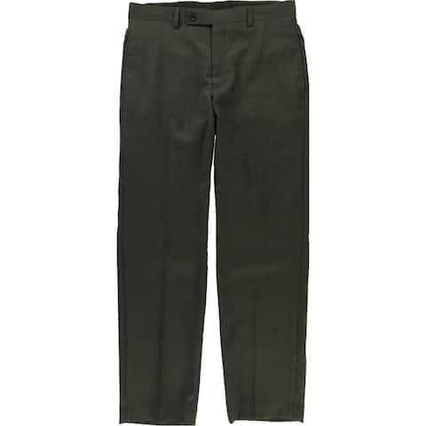 Ralph Lauren Mens Windowpane Dress Pants Slacks, Brown, 38W x 34L
