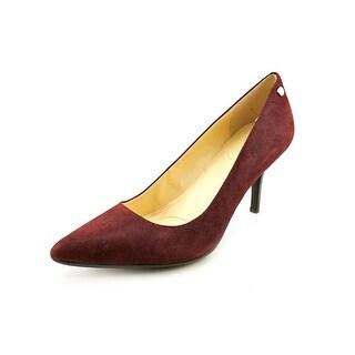 Calvin Klein Ashley Pointed Toe Suede Heels