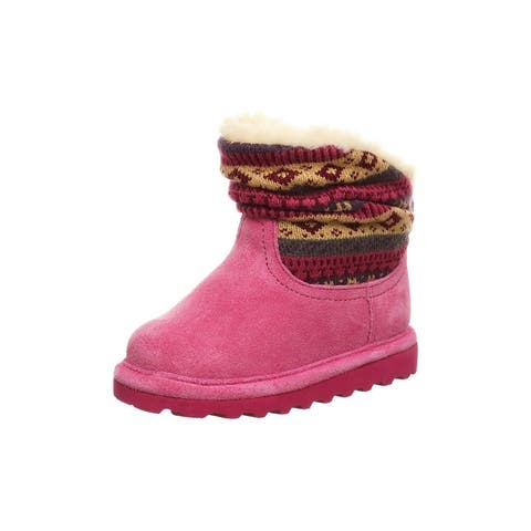 """Bearpaw Casual Boots Girls Infant Virginia 3"""" Slouchy Booties"""