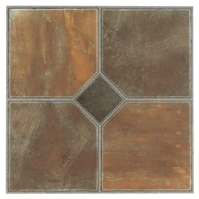 Achim Sterling Rustic Slate 12x12 Vinyl Floor Tile (45 Tiles/45 sq ft)