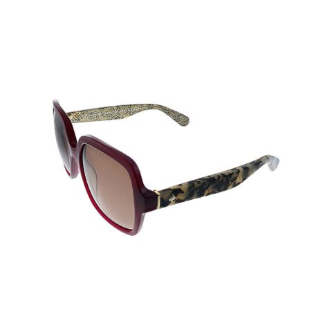 Kate Spade KS Katelee/S S2O Womens Burgundy Frame Brown Gradient Lens Sunglasses